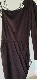 Kardashian Kollection Dresses - Kardashian suede like one shoulder dress